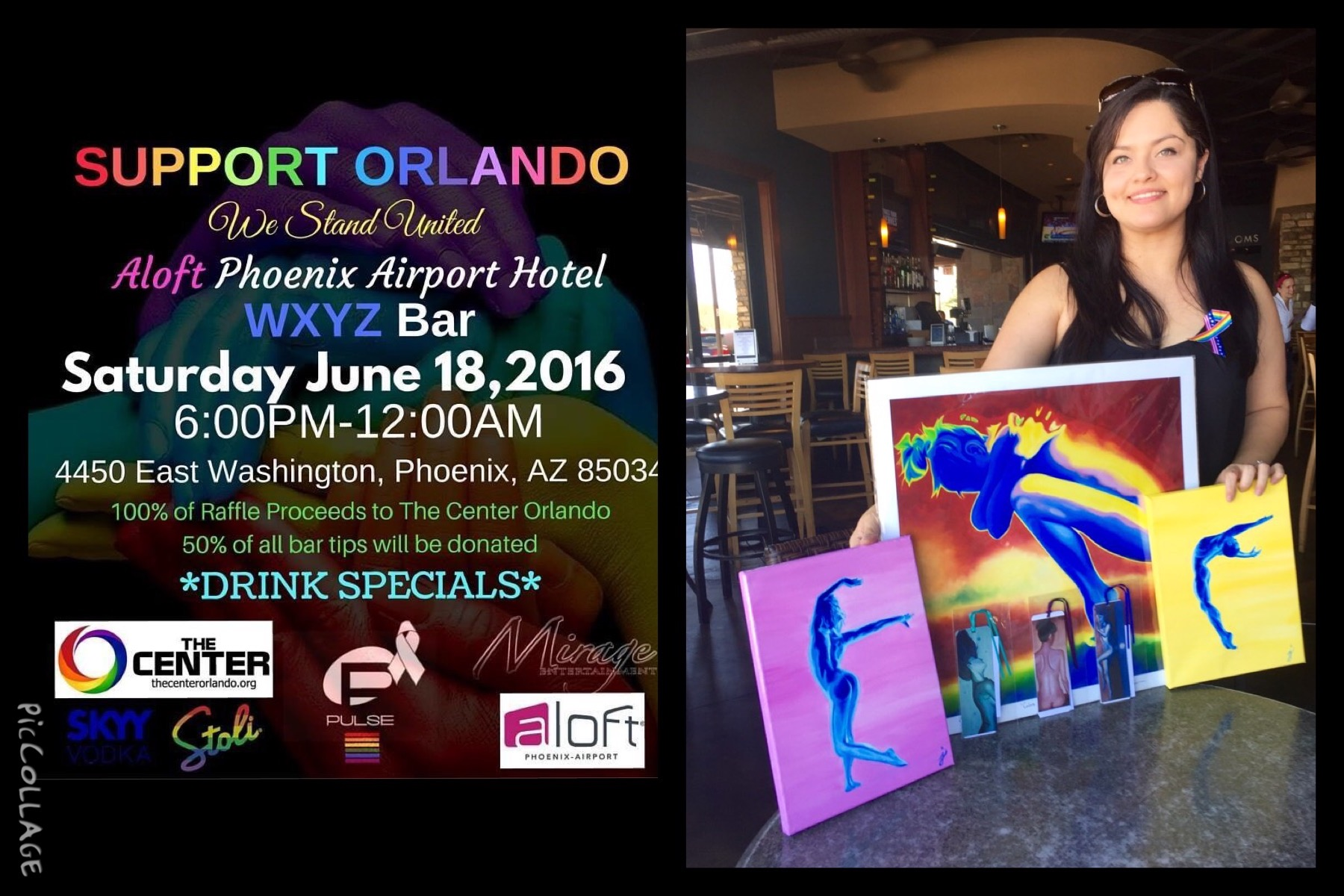 Donation for the silent auction for LGBT The Center Orlando in support of Orlando Victims