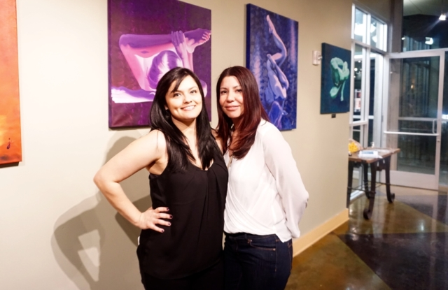 Jenna and Carmen- Long time friend and art collector