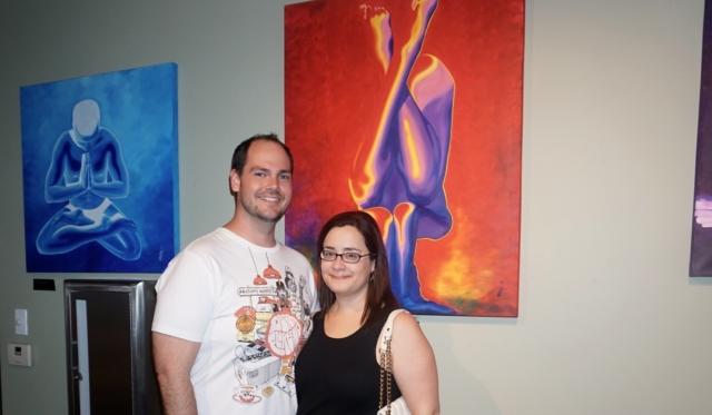 Joey and Megan art collector- colors of yoga
