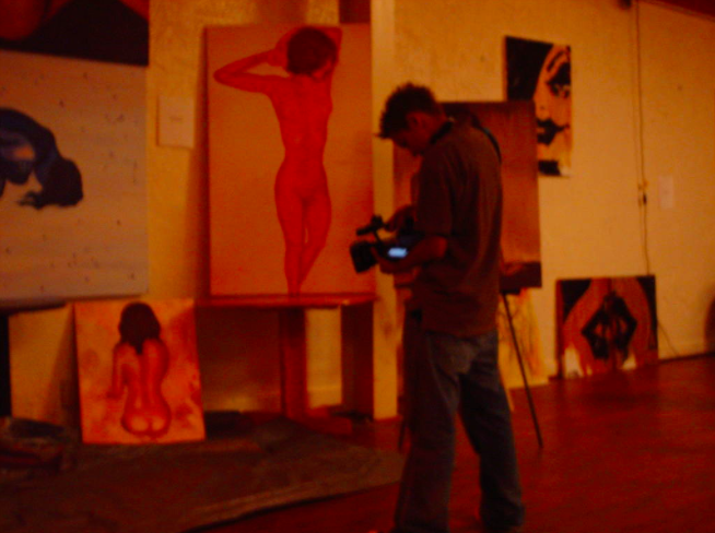 People filming my work at Art EXPO in CA