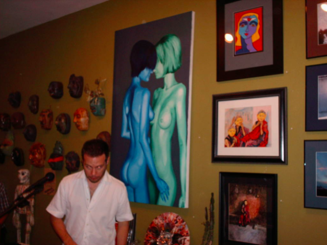 Commissioned work hanging at Cactus Gallery group show