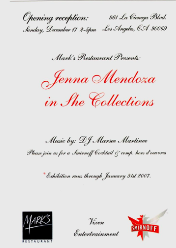 She Collections solo event at Marks Restaurant