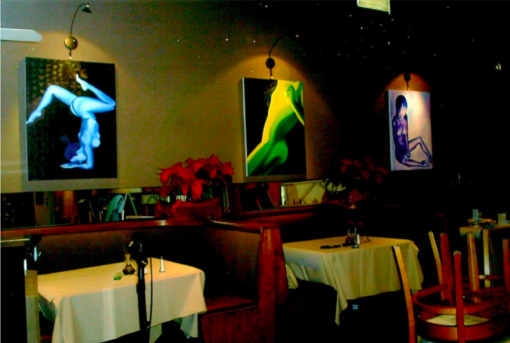 Set up at Marks Restaurant in CA