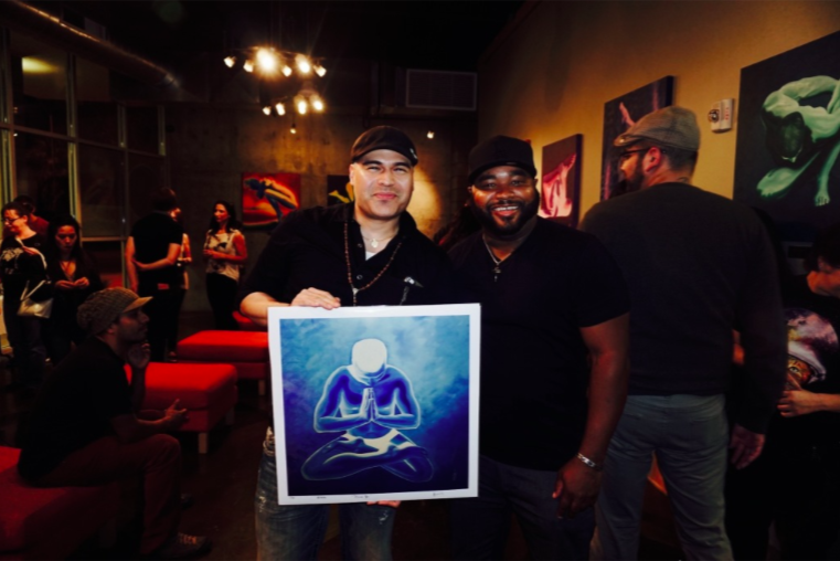 Adrian and Van at Colors of Yoga solo show