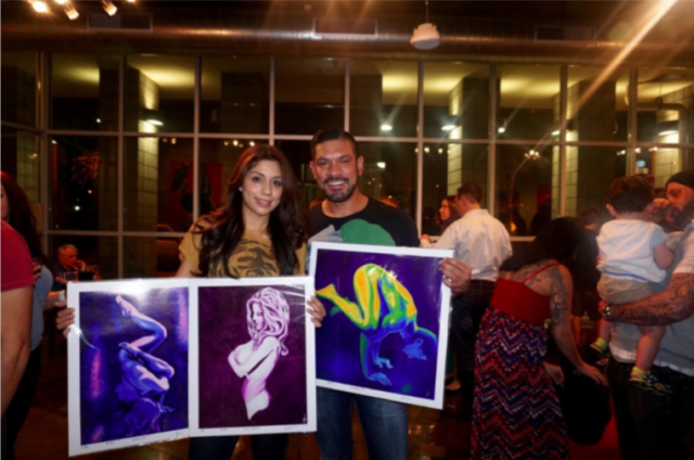 Happy Clients at opening night for Colors of Yoga