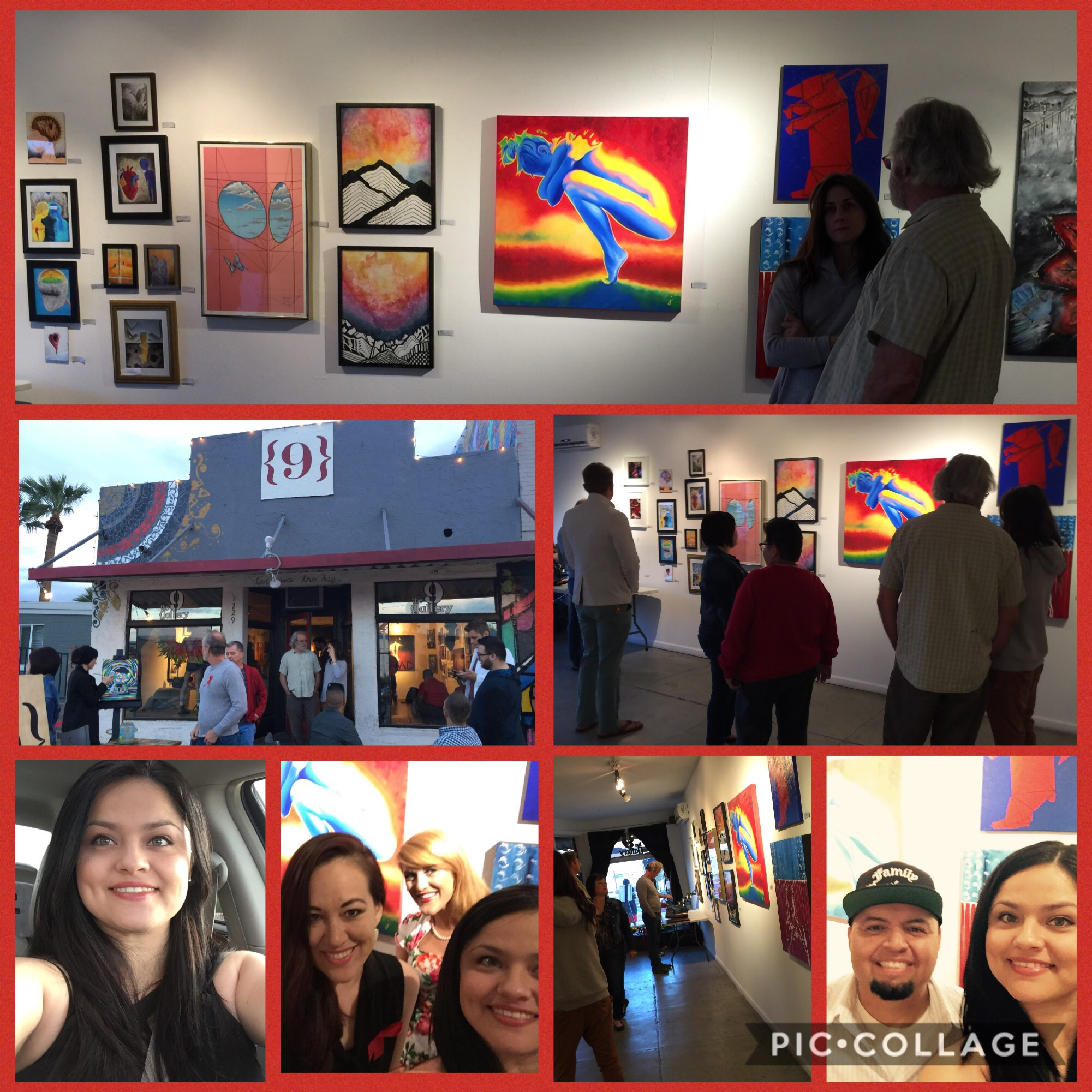 At RED Art for Life event